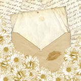 Love letter. With flower on paper background Stock Photo