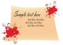 Love letter. Vector illustration on white background Stock Images