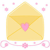 Love Letter. A love letter decorated with a small heart royalty free illustration