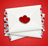 Love letter in airpost envelope Royalty Free Stock Photography