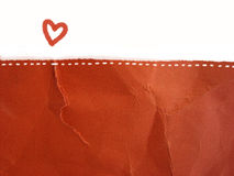 Love letter - background. Background- heart shape and  textured red paper like a love letter Royalty Free Stock Images