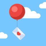 Love letter with balloon Stock Image