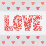 Love letter card1 Royalty Free Stock Photography
