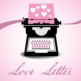 Love letter concept royalty free stock photos