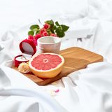 The Love letter concept on table with breakfast Stock Photography