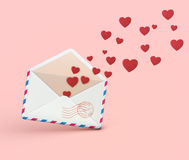 Love letter concept Royalty Free Stock Photo