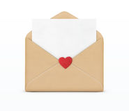 Love letter concept Royalty Free Stock Images