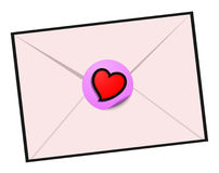 Love letter design Stock Photography