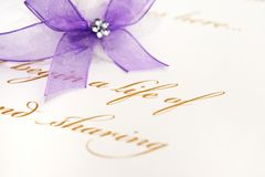 Love letter and fountain pen Stock Photography