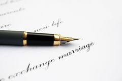 Love letter and fountain pen Royalty Free Stock Photography