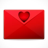 A love letter with a heart. Royalty Free Stock Photo