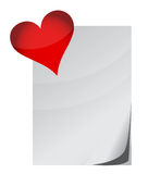 Love letter and heart Stock Images