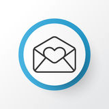 Love Letter Icon Symbol. Premium Quality  Greeting Email Element In Trendy Style. Royalty Free Stock Photography