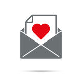 Love Letter Icon Royalty Free Stock Images