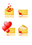 Love letter icons Stock Photography