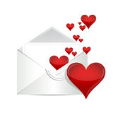 Love letter illustration design Stock Image