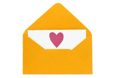 Love letter with paper heart Stock Photo