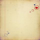 Love letter, paper with heart Stock Images