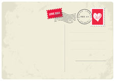 Love letter postcard Royalty Free Stock Photography