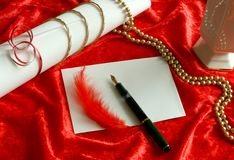 love letter and red ornament Stock Image