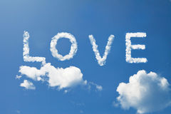 LOVE letter on sky Royalty Free Stock Photos