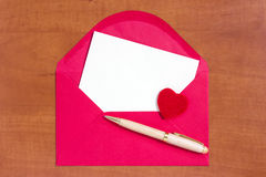 Love letter with space for your own text Royalty Free Stock Photography