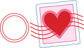 Love Letter Stamp Stock Photography