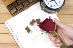Love letter stamps for valentine day Royalty Free Stock Image