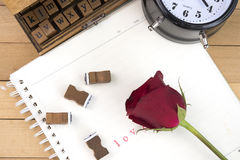 Love letter stamps for valentine day Stock Photography