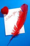 Love Letter Still Life Royalty Free Stock Images