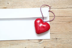 Love letter, valentine day Stock Images