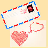 Love letter for valentine's day Stock Image