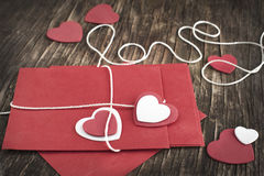 Love letter for Valentine's day. Royalty Free Stock Images