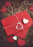 Love letter for Valentine's day. Toned image Stock Photos