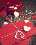 Love letter for Valentine's day. Toned image Stock Photo