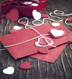 Love letter for Valentine's day. Toned image Stock Photography