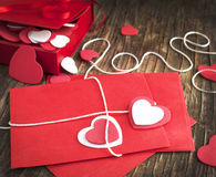 Love letter for Valentine's day Stock Photos
