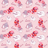 Love letter Valentine seamless texture Royalty Free Stock Photo