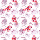 Love letter Valentine seamless texture Royalty Free Stock Photography