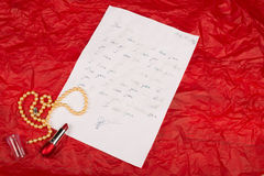 Love letter of Valentines day Stock Photography