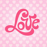 Love lettering hearts Royalty Free Stock Image