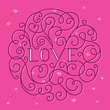Love lettering Royalty Free Stock Image