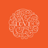 Love lettering Stock Image