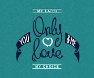 Only Love lettering Stock Images