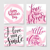 Love lettering on pink grunge pattern, original design Royalty Free Stock Photography