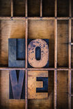 Love Letterpress Word Royalty Free Stock Images