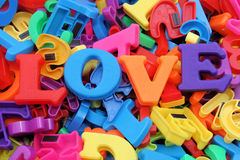 Love letters. Letters spelling out the word love royalty free stock images