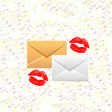 Love letters Royalty Free Stock Image