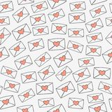 Love letters. Seamless pattern with love letters. Vector illustration Stock Image