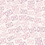 Love letters. Cute seamless pattern with love letters. Vector illustration Stock Image